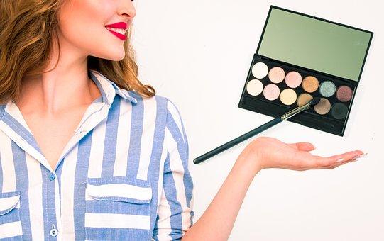 Makeup, Makeup Brush, Blush, Palette, Hair, Bright