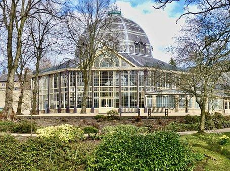 Pavilion, Glass, Orangery, Facade, Architecture, Shape