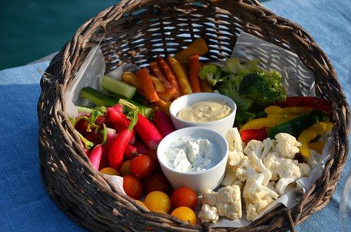 Rawness, Vegetables, Aperitif, Radish, Cabbage, Basket