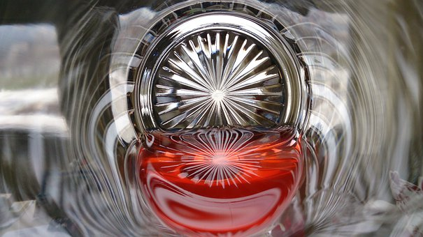 Glass, Red, Color, Reflection, Symmetry