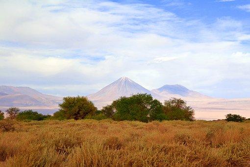 Chile, Volcano, Nature, South America