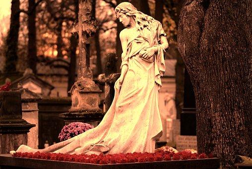 Sculpture, Statue, Stone, Woman, Dress