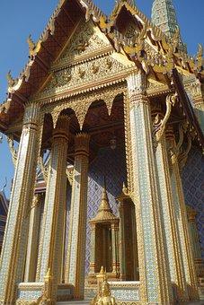 Temple, Bangkok, Gold, Buddha, Thailand