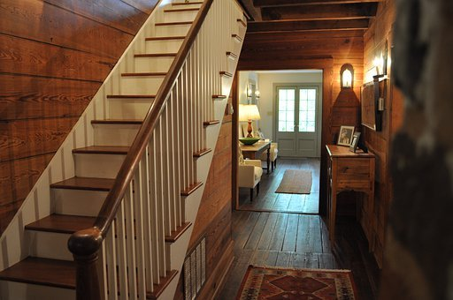 Stairs, Shaker, Warm, Wood, Antique, Old