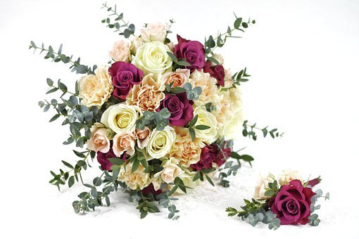 Wedding, Bridal Bouquet, Roses, Flowers, Love, To Marry