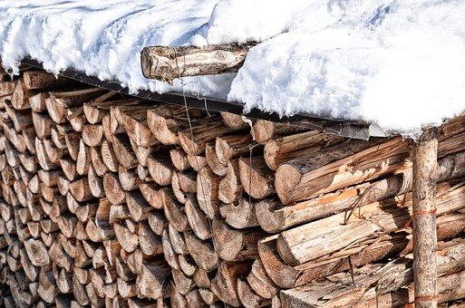 Wood, Heating, Winter, Holzstapel, Snow, Energy