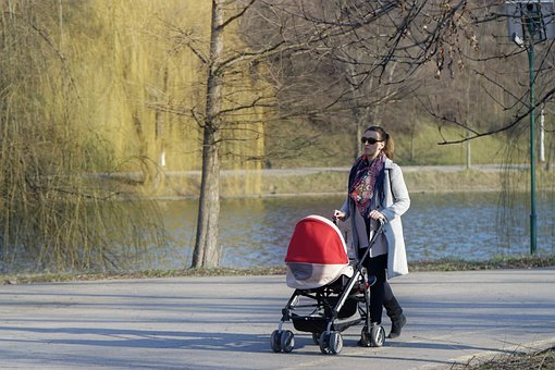 Woman, Young, Parent, Walking, The Child, Small
