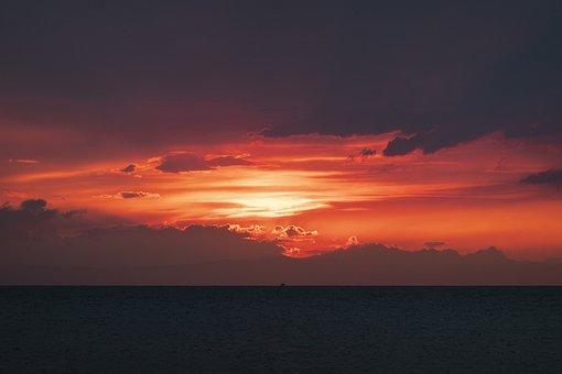 Sunset, Adriatic, The Adriatic, Sea, Landscape, Sky