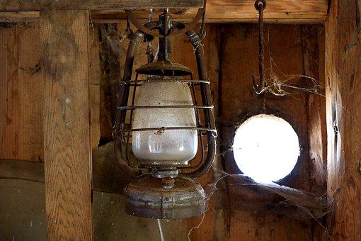 Storm Lantern, Old, Lantern, Antique, Kerosene Lamp