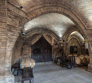 Winery, Pinell De Brai, Barrel, Arches