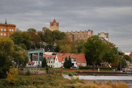 Bernburg, Saale, Saxony-anhalt, Castle, River, Water