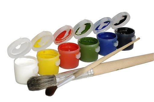 Paints, Brushes, Bristle, The Artist, Gouache, Child