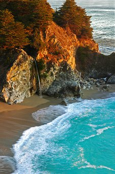 Big Sur, Waterfall, Roadtrip, California, Ocean