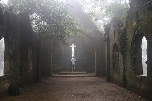 Church, Ruins, Old, Ancient, Nature, Vietnam, Cross