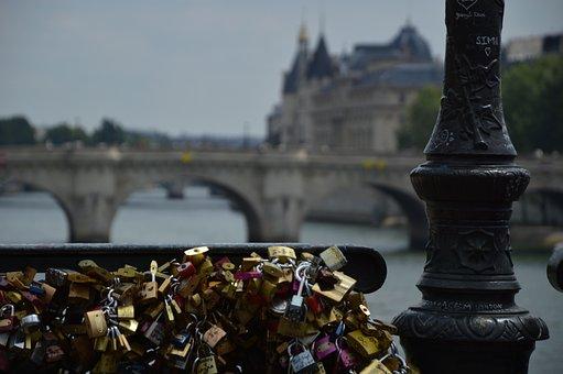 Paris, Bridge, France, River, Architecture, Cityscape