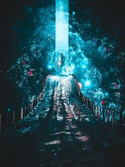The Pillar Of Light, Light, Cosmonaut, Cosmos, Trail
