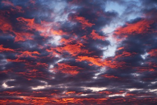Dawn, In The Morning, Clouds, Light