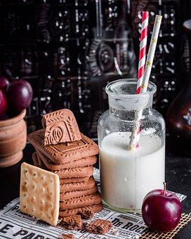 Cookies, Milk, Nutrition, Dessert
