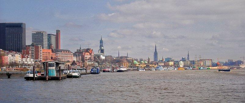 Hamburg, Port, Elbe