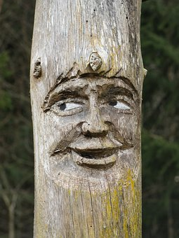 Craft, Sculpture, Carving, Face, Holzfigur, Carved