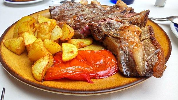 Fillet, Pork Chop, T-Bone Steak, Meat