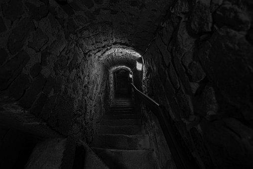 Finish, Dark, Light, Stairs, Wall