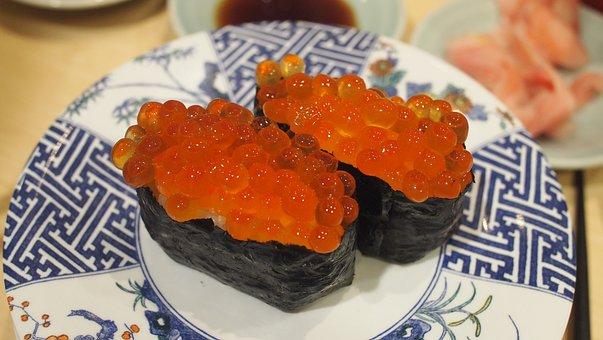 Food, Sushi, Japan, Salmon, Japanese