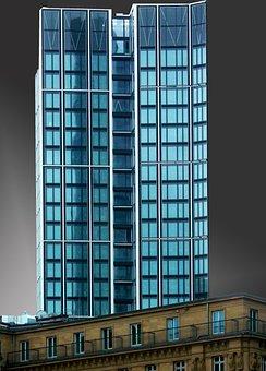 Skyscraper, Ffm, Frankfurt, Glass
