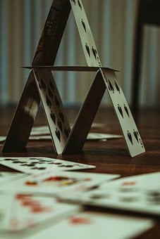 Card, Tower, Neon, Coronavirus, Hello March, Martior