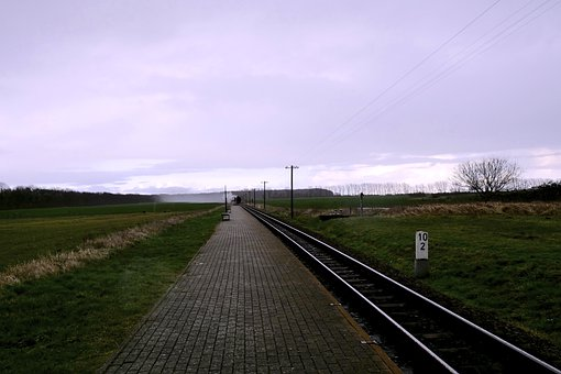 Panorama, Perspective, Horizon, Gleise, Metal