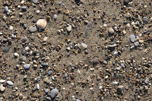 Gravel, Mussels, Beach, Sand, Iz, Background, Pattern