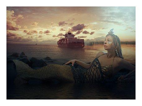 Siren, Mermaid, Fantasy, Legend, Mythology, Magic, Tail