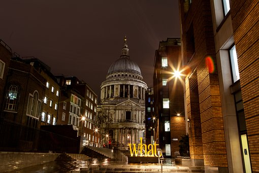 St Pauls Cathedral, Night, London, Famous, Building