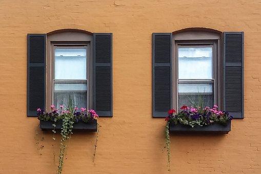 Windows, Shutters, Old, Vintage, Wood
