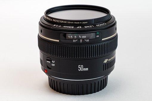 Lens, Canon, Lens Ef 50Mm, Optics