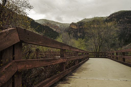 Path, Walkway, Mountains, Fall, Autumn, Pathway, Bridge
