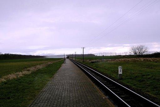 Panorama, Perspective, Horizon, Gleise