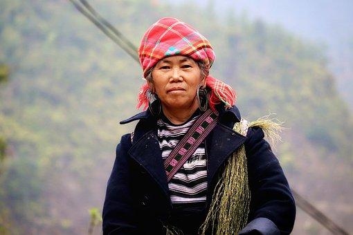 Vietnam, North Vietnam, Woman, Portrait, Mountain Folk