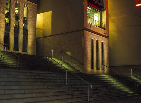 Architecture, Stairs, Building, Railing, City