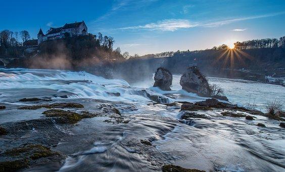 Rhine Falls, Rhine, Waterfall, Schaffhausen