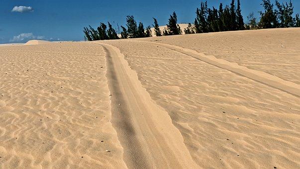 Vietnam, Dune, Mui Ne, Sand, Sky, Zaspa