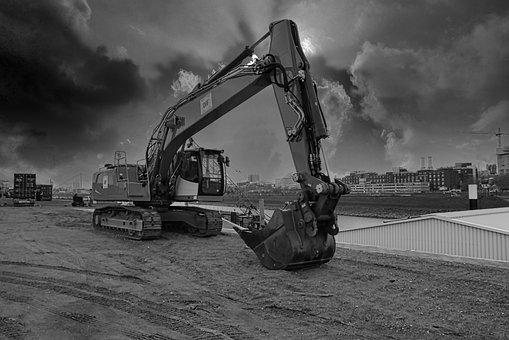 Excavators, Sky, Sw, Industry, Site, Machine, Vehicle