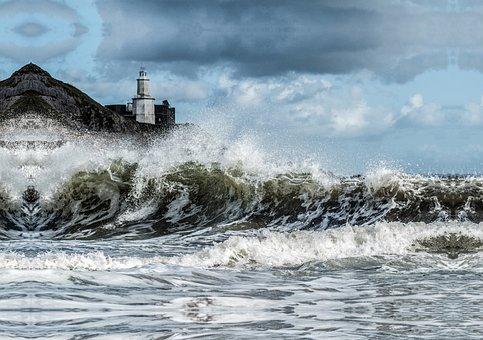 Stormy, Sea, Bracelet, Bay, Swansea