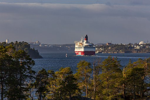 Ferry, Boat, Stockholm, Sweden, Ship