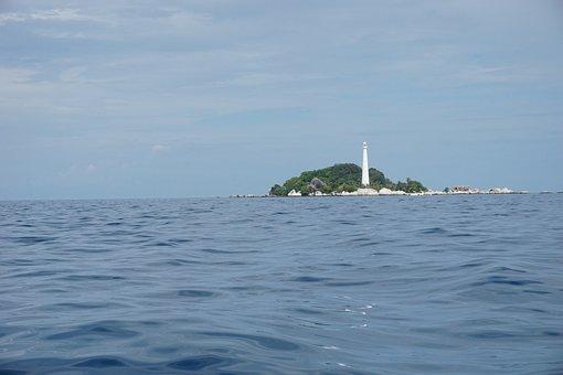 The Sea, Lighthouse, Ocean, Water, Beach