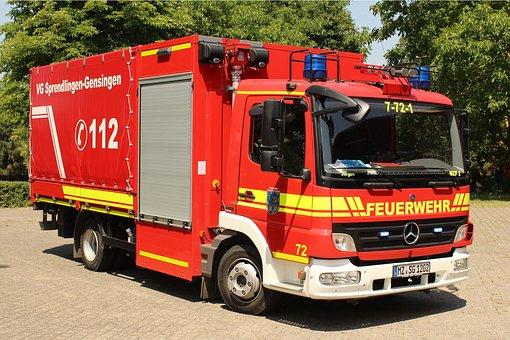 Fire, Fire Truck, Fire Fighter, Truck, Firetruck