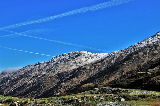 Geology, The Stage, Mountains, Rocks, Blue Sky, See