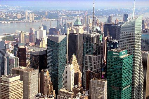 New York, Ny, Usa, Nyc, City, Building, Skyline