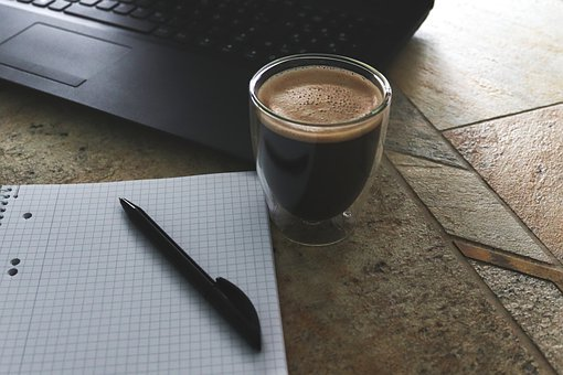 Coffee, Cafe, Beverages, Table, Cup, Hot, Black, Brown