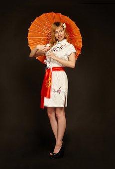 China, Girl, Oriental Style